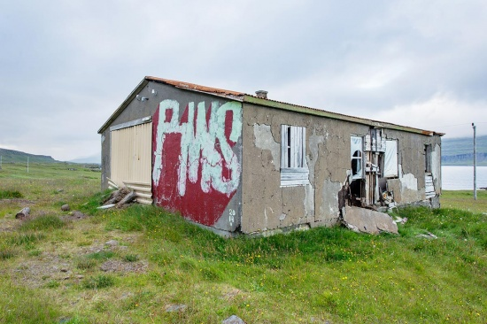 Abandoned village in Eastfjords, Iceland